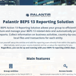 Palantir launches a BEPS Action 13 solution